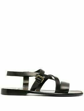 Silvano Sassetti side-buckle leather sandals - Brown
