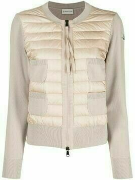 Moncler panelled padded jacket - PINK