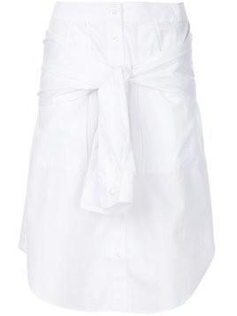 T By Alexander Wang shirt style A-line skirt - White