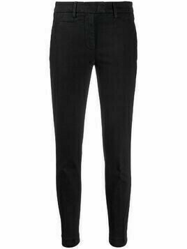 Dondup slim-fit cotton chinos - Black