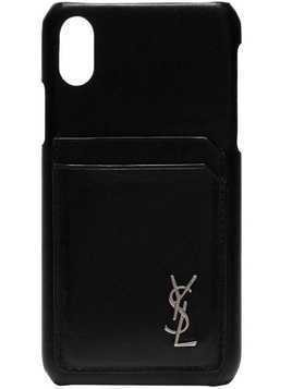 Saint Laurent iPhone 10 Leather Case - Black