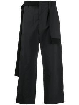 Craig Green nylon rib trousers - Black
