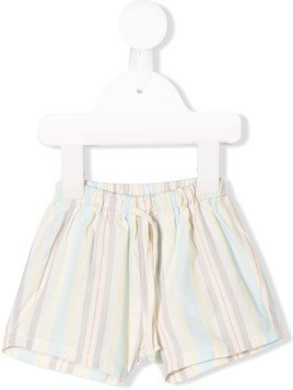 Knot Rhythm striped shorts - White