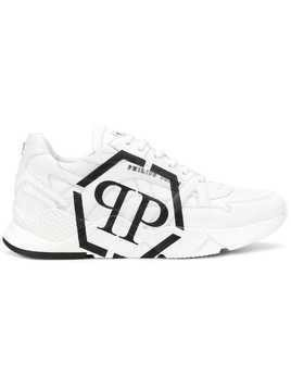 Philipp Plein side logo low top trainers - White