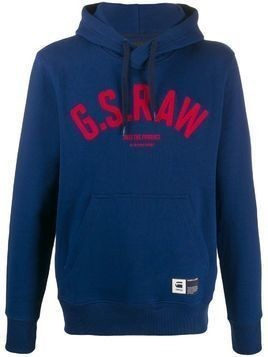G-Star Raw Research logo hoodie - Blue