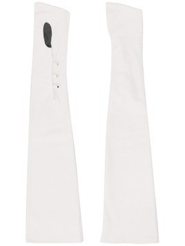 Alessandra Rich long button up gloves - White