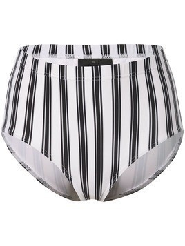 Cynthia Rowley Loren striped bikini bottoms - White