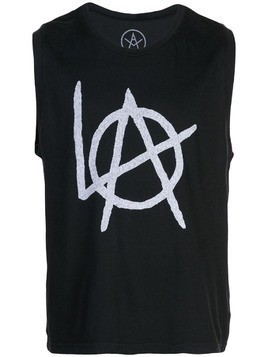 Local Authority printed tank top - Black