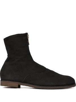 Guidi zip front ankle boots - Black