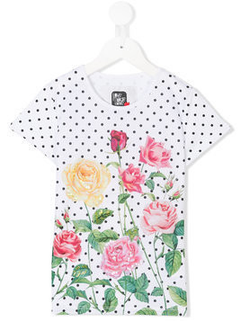 Love Made Love polka-dot floral T-shirt - White