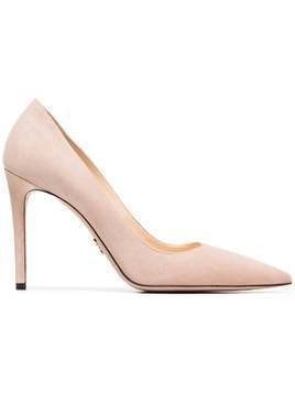 Prada nude 100 point toe suede pumps - Nude & Neutrals