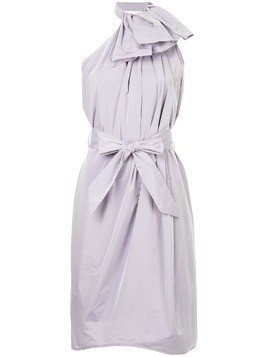 Martin Grant halterneck ruffled dress - PURPLE