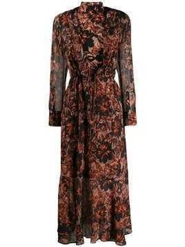 Dorothee Schumacher printed turtleneck maxi dress - Black