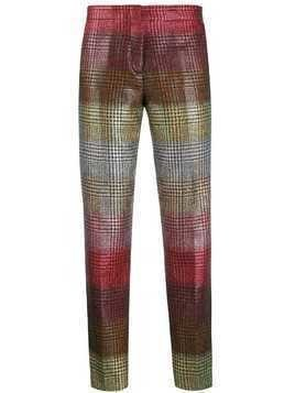 Marco De Vincenzo houndstooth slim-fit trousers - Red