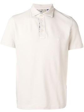 Borrelli short sleeve polo shirt - Neutrals