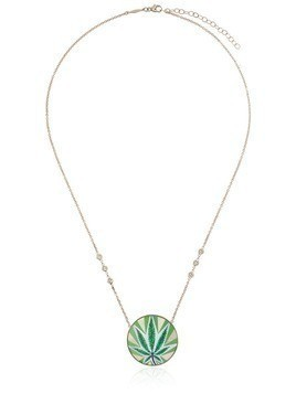 Jacquie Aiche Sweet Leaf Diamond and opal necklace - Gold