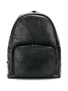 Gallucci Kids logo textured backpack - Black