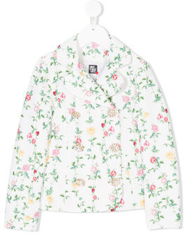 Love Made Love floral print jacket - White