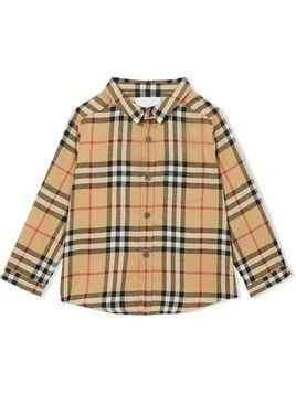 Burberry Kids Vintage Check flannel shirt - Neutrals