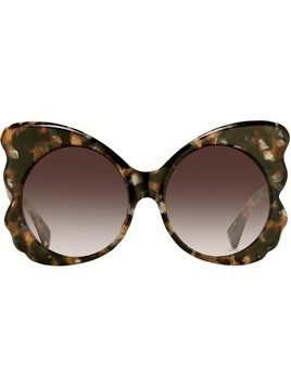 Matthew Williamson Special oversized sunglasses - Brown