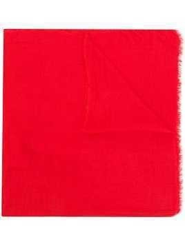 Faliero Sarti frayed edge scarf - Red