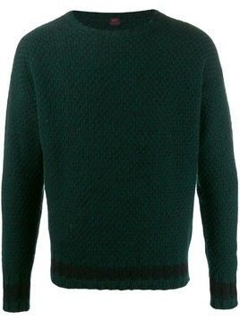 MP Massimo Piombo honeycomb knit jumper - Green