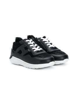Hogan Kids Running logo sneakers - Black