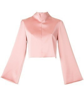 Tibi funnel neck blouse - Pink