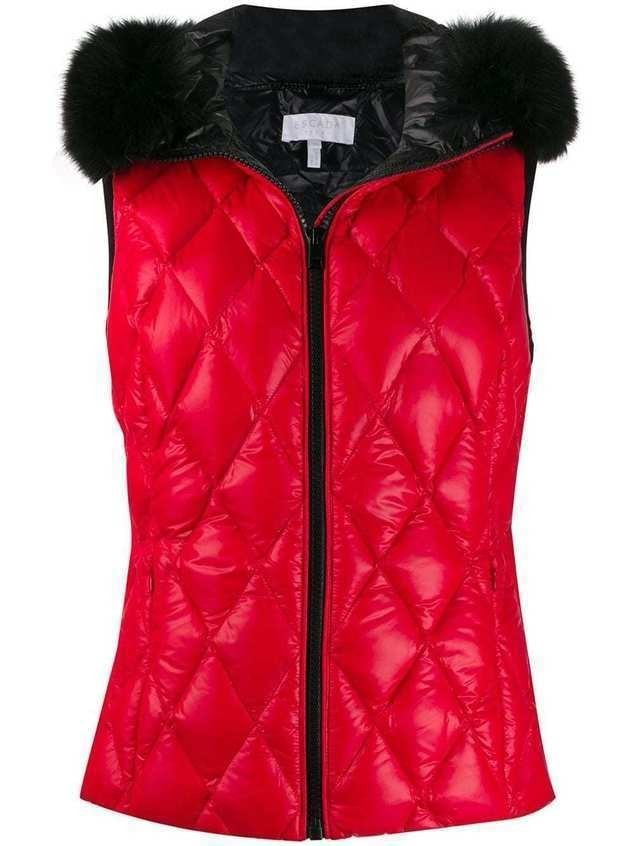 Escada Sport quilted effect vest - Red