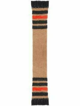 Burberry stripe knitted scarf - Brown