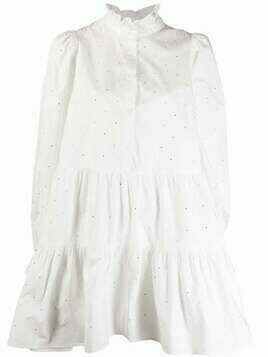 Essentiel Antwerp Zinga crystal-embellished dress - White