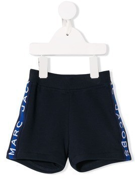 Little Marc Jacobs logo stripe shorts - Blue