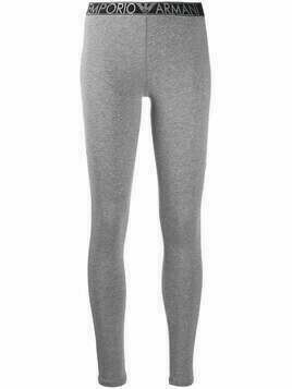 Emporio Armani elasticated logo waistband leggings - Grey
