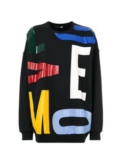 Love Moschino bold letter sweatshirt - Black