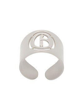 Mm6 Maison Margiela logo open wide ring - Silver