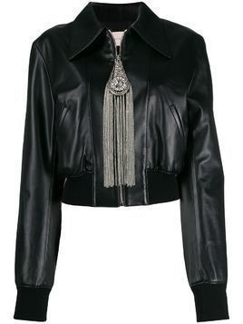Christopher Kane cropped zip-front jacket - Black