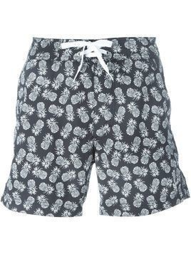 Woolrich pineapple print swim shorts - Blue