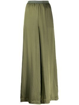 Pierantoniogaspari lightweight flared trousers - Green