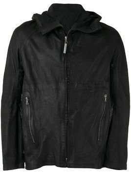 Isaac Sellam Experience hooded leather jacket - Black