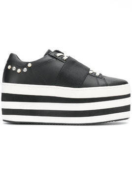 Moa Master Of Arts striped flatform sneakers - Black