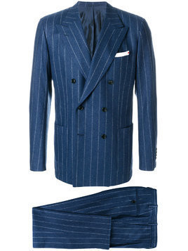 Kiton pinstriped suit - Blue