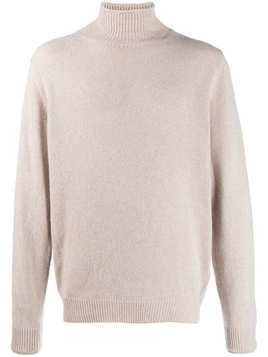 Caruso turtle neck jumper - Neutrals