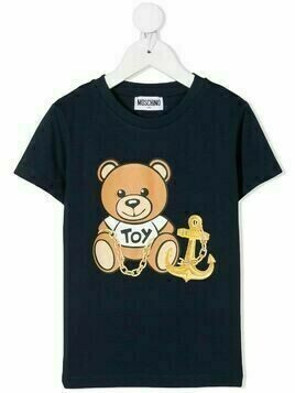 Moschino Kids Toy Bear Anchor T-shirt - Blue