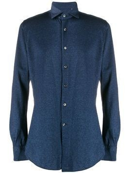 Glanshirt woven long sleeved shirt - Blue