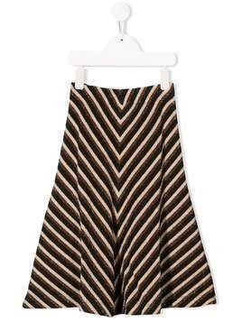 Caffe' D'orzo metallic striped skirt - Black