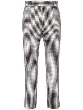 Haider Ackermann houndstooth cropped trousers - Black