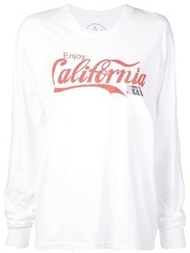 Local Authority long sleeved California top - White