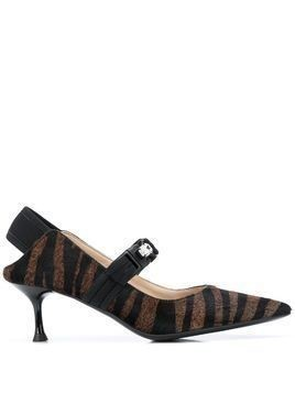 Alberto Gozzi zebra print pumps - Brown