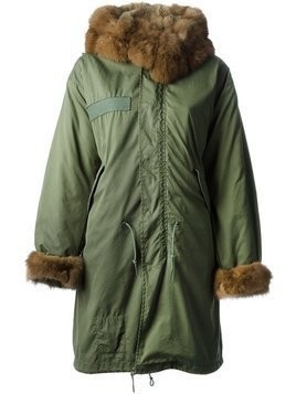 Liska fur-trimmed parka - Green