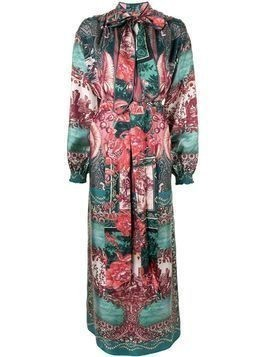 F.R.S For Restless Sleepers Paradise silk maxi dress - Green